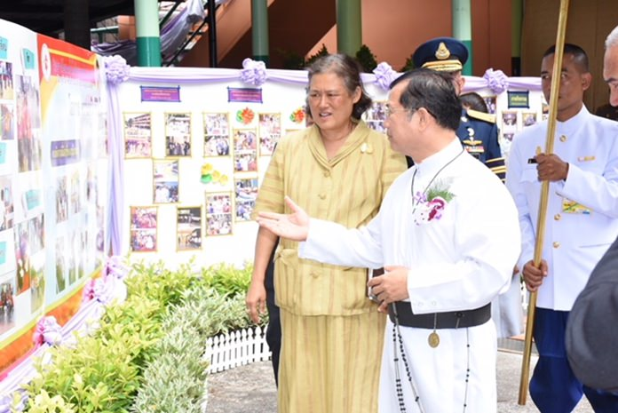 HRH Princess Sirindhorn has visited the school many times.