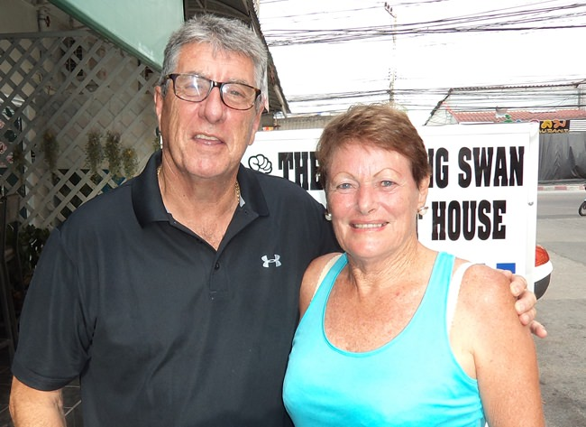 Robert Cross with Lorraine Percy.