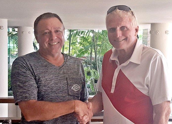Don Carmody (right) with Tom Herrington.