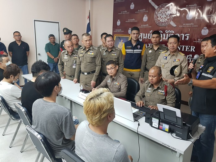 Pattaya-area police announced the arrest of five South Koreans in a raid against an online sport-betting operation.