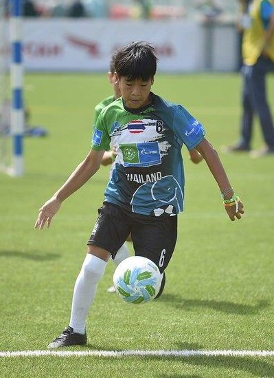 12-year old Ittipolchana Kaewsawad plays for the African Elephant team at the F4F Championship in Moscow, Russia.