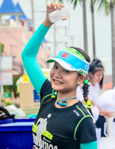 Hot work - this runner finds the best way to cool down.