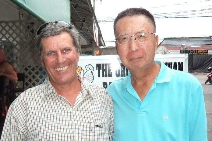 Rudy Regenass (left) with Takeshi Hakozaki.