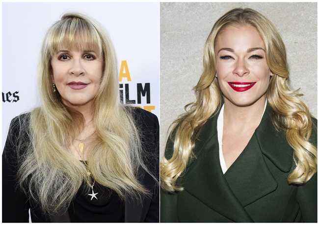 This combination photo shows Stevie Nicks (left) and LeAnn Rimes. (AP Photo)