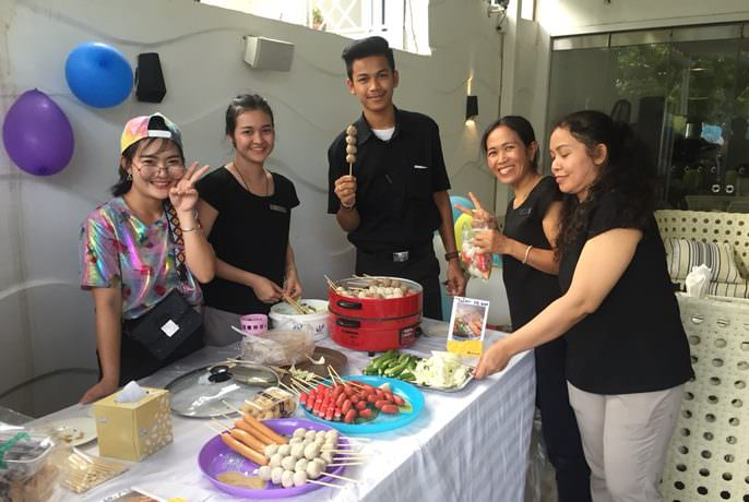 The Centara Grand Phratamnak built morale with a staff flea market and birthday celebration.