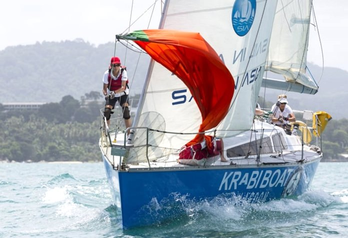 Susan Parker and her crew on Krabi Boat Lagoon Pinocchio finished second in IRC II class.