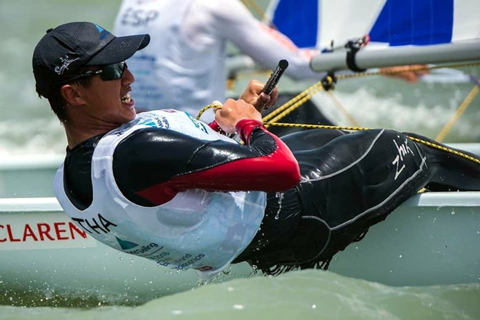 Arthit Romanyk competed in the male Laser Radial class in Texas.