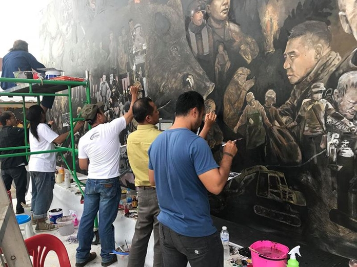 Chiang rai artists create tham luang rescue mission for Artiste creation
