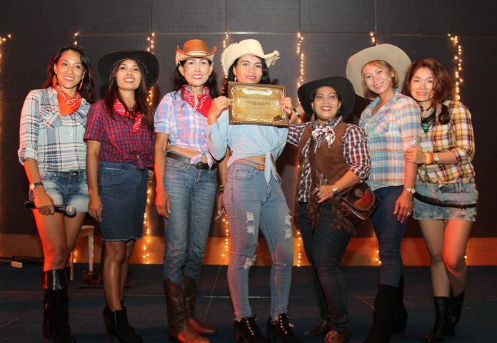Contestants and winner of the Best Cowboy Costume.