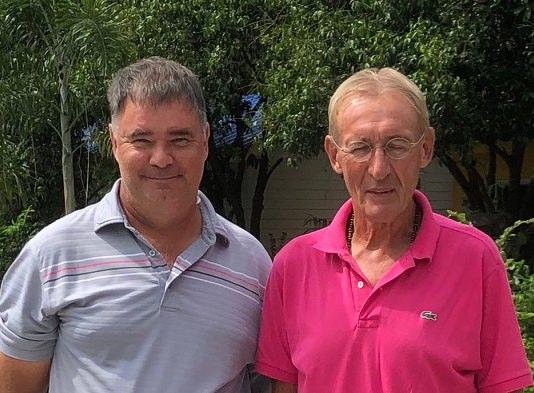 Stephen Ford (left) with Willem Lasonder.