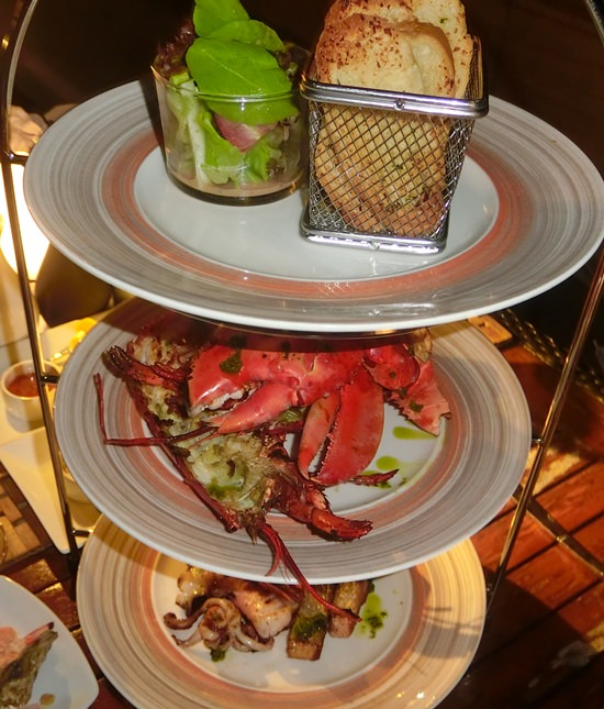 Seafood on the carousel.