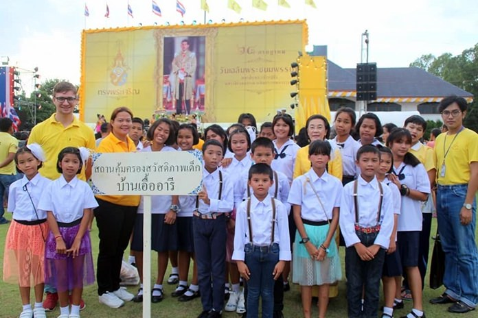 The Human Help Network Thailand helped mark HM the King's 66th birthday by joining the blessings ceremony at the Huay Yai Sub-district office.