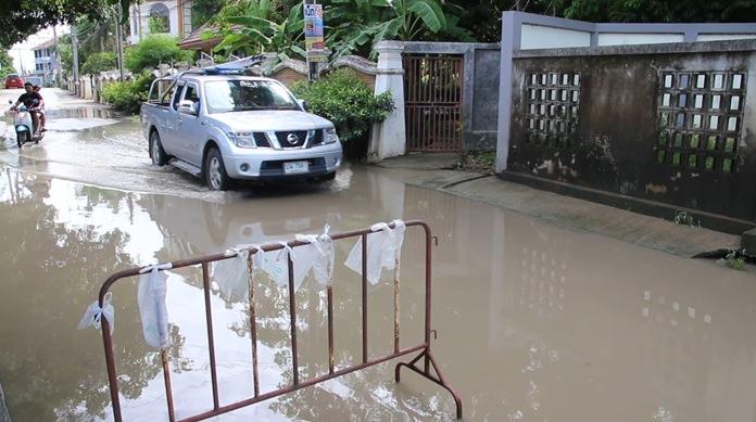 Nongprue has earmarked 9.4 million baht to build a new drainage system under Soi Mabyailia 43.