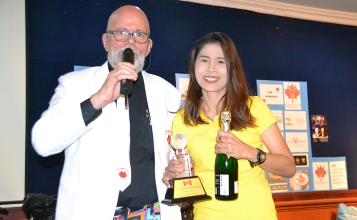 The Champion in the Ladies Division this year was Nutrada Moungrhunga with 34 points.