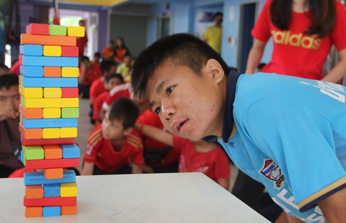 Jenga, a game a patience and skill.