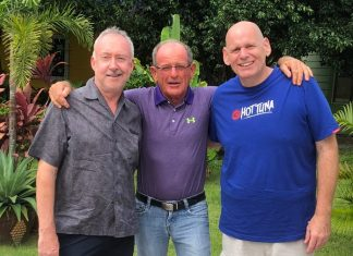 Stuart Banks, Paddy Devereux and Tony Wakeling.