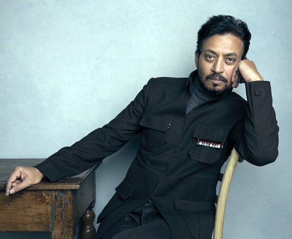 "In this Jan. 22, 2018 file photo, actor Irrfan Khan poses for a portrait to promote the film ""Puzzle"" during the Sundance Film Festival in Park City, Utah. (Photo by Taylor Jewell/Invision/AP)"