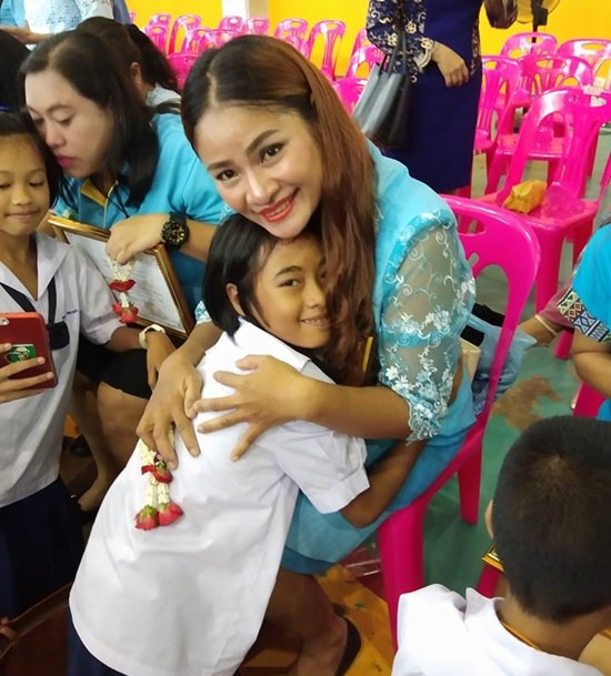 There is nothing as special as a mother's love, as displayed here at Pattaya City School #8.