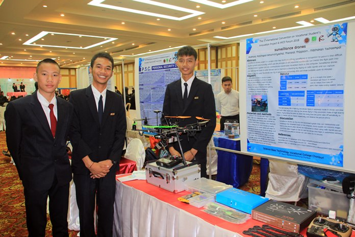 Chonburi's Science Base Technology College has been selected to host one of five pilot projects to increase innovation by Thai vocational school students.