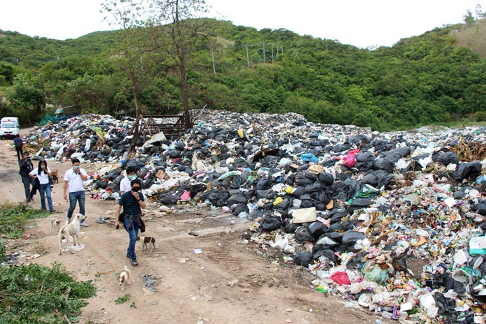 Koh Larn's trash problems are being handled with hopes that the island's massive garbage backlog could be eliminated by 2020, Pattaya business leaders were told.