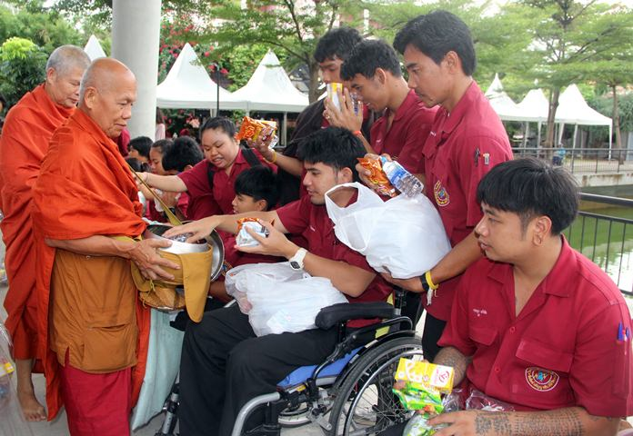 Students give to the Abbot.