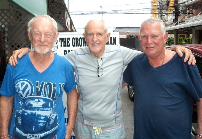John Coetzee (from left), Frank Riley and Steve Younger.