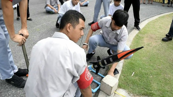 The day featured a water rocket contest.