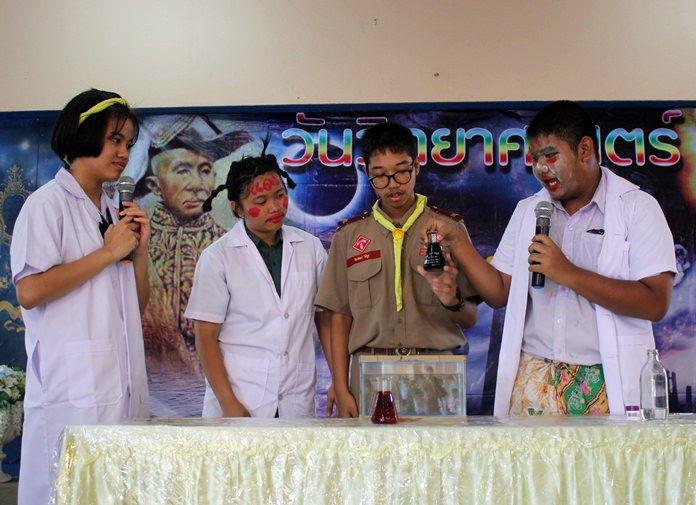 Pattaya School No. 9 students show off their knowledge and inventions at their school's annual Science Day event.