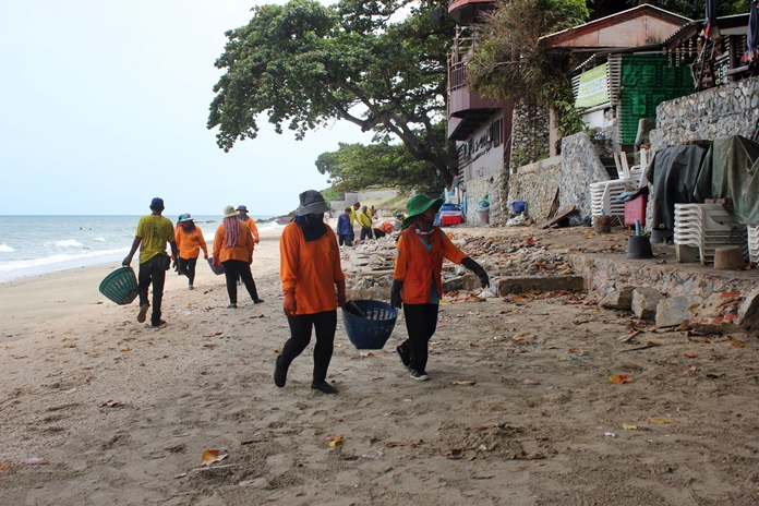 Pattaya finally cleaned up the mess it left behind after demolishing encroaching structures on Yim Yom Beach.