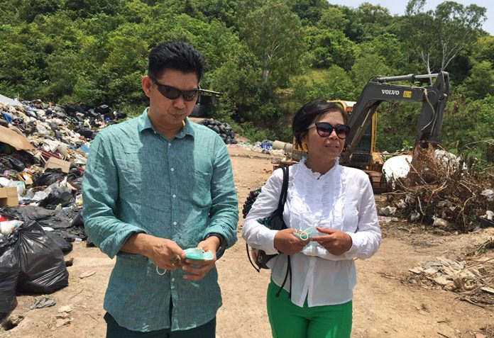 A group of Facebook garbage activists visited Koh Larn to see the island's trash crisis, offering to see if they could help.