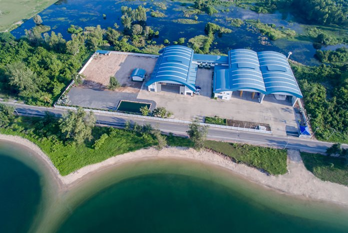 An aerial photo of the PMG Marine Complex-the largest privately-owned shipyard in S.E. Asia.