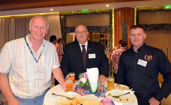 Alan Mclaughlin, Regents International School, Warren Boyes, President NZTCC and Steve Fraser from KRP.