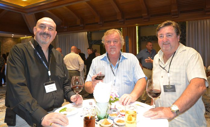 Norman Green, Steve Johnson and Craig Steven Murphy are happy to meet each other again at networking evenings.