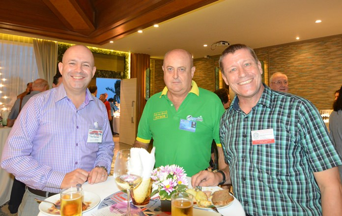 Carl Sellick, Vice Chairman of BCCT, David Wright from Pattaya Dive Center and a representative from Eastern Engineering Services co., Ltd.