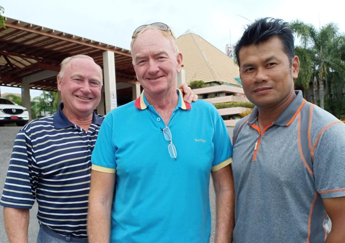 James Kelly with Paul Young and Bill Kana.