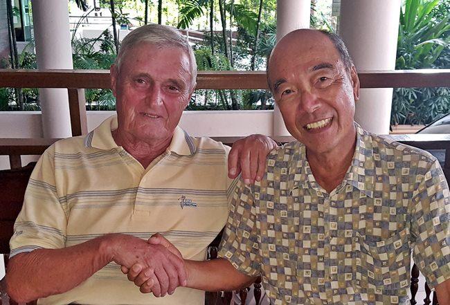Paul Sharples (left) with Mashi Kaneta.