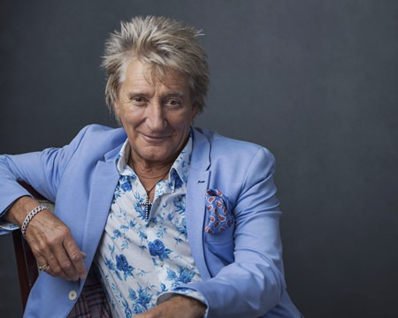 """Rod Stewart poses for a portrait on Wednesday, Aug. 8, in New York to promote his tour and upcoming album, """"Blood Red Roses."""" (Photo by Drew Gurian/Invision/AP)"""