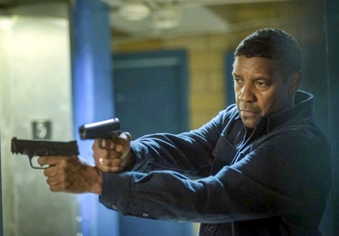 "This image shows Denzel Washington in a scene from ""Equalizer 2."" (Glen Wilson/Sony, Columbia Pictures via AP)"
