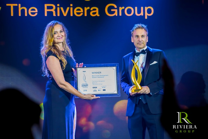 Winston Gale is presented with the 'Triple Gold Award' for Best Condo Development (Eastern Seaboard).