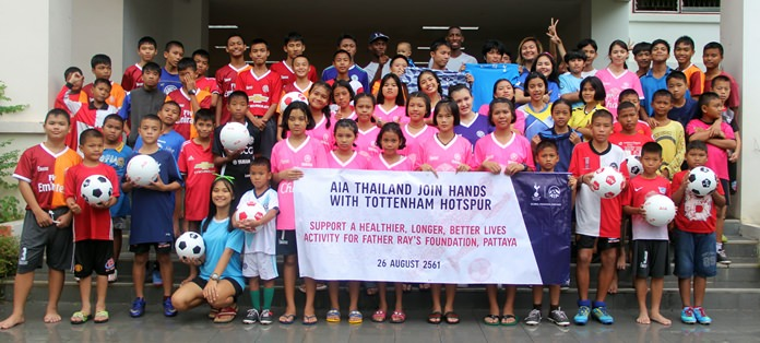 The Father Ray Children's Home welcomes two global coaches from the English Premier League team Tottenham Hotspur.
