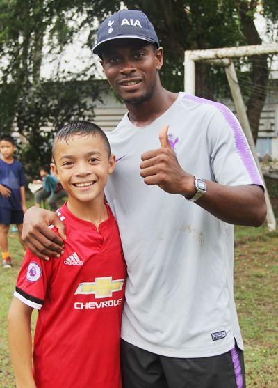 Shaun with 'Neymar'.