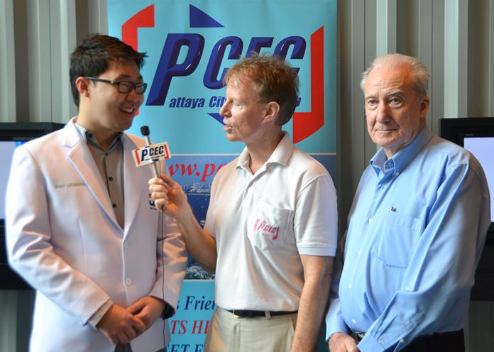 Member Ren Lexander interviews Dr. Bundit Leethanaporn and Dr. Iain Corness after their presentations. To view the video, visit: https://www.youtube.com/watch?v=yMqqgv6F4ns&t=5s.