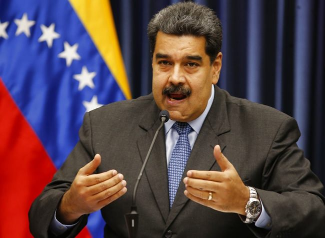 In this file photo, Venezuela's President Nicolas Maduro speaks during a press conference at the Miraflores Presidential Palace, in Caracas, Venezuela, Tuesday, Sept. 18. (AP Photo/Ariana Cubillos)