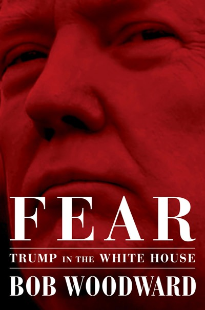"A copy of Bob Woodward's ""Fear"" is photographed Wednesday, Sept. 5, 2018, in New York. It's not clear whether President Donald Trump has much to fear from ""Fear"" itself. But the book of that name has set off a yes-no war between author Bob Woodward and the president, using all the assets they can muster. (AP Photo/Mark Lennihan)"