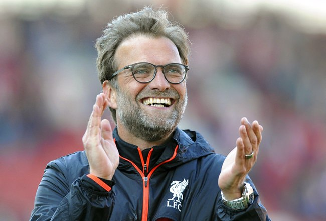 In this Saturday, April 8, 2017 file photo, Liverpool manager Juergen Klopp applauds fans after Liverpool beat Stoke 2-1 in the English Premier League soccer match between Stoke City and Chelsea at the Britannia Stadium, Stoke on Trent, England. (AP Photo/Rui Vieira, File)
