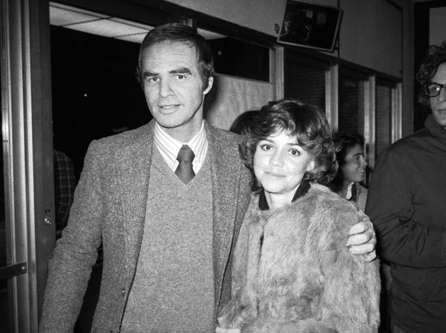"""In this Dec. 23, 1978 file photo, Burt Reynolds and Sally Field attend the off-Broadway play """"Buried Child'"""" in New York. (AP Photo/Rene Perez, File)"""