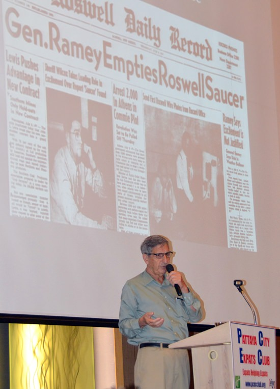 Anthony J. Tambini describes the Roswell incident, and the conclusion that the UFO crash was actually a test balloon.