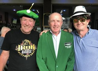 Jim Ferris (centre) with Keith Melbourne (left) and Robbie Keogh.