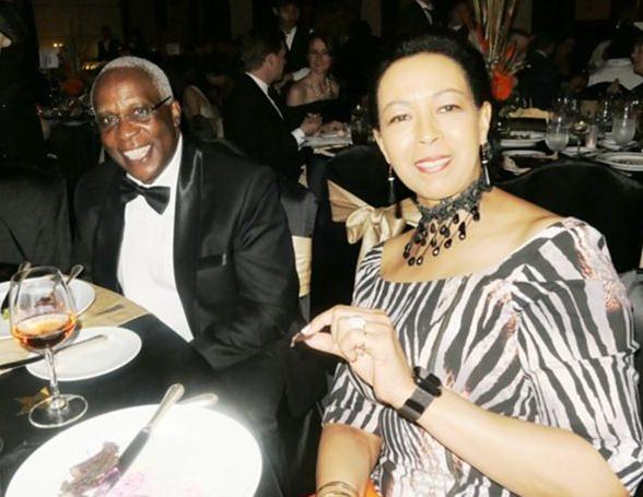 The elegant Madame Carol Doidge with HE Patrick Simiyu Wamoto Ambassador of Kenya.