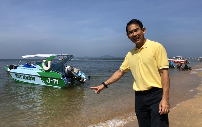 Deputy Mayor Pattana Boonsawat said waters off Jomtien Beach have cleared, allowing swimmers to see fish and clean sand.